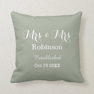 Personalized Lesbian Wedding Throw Pillow