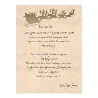 Personalized Letter From Santa Card