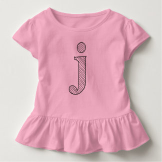 Personalized Letter Ruffle Tee
