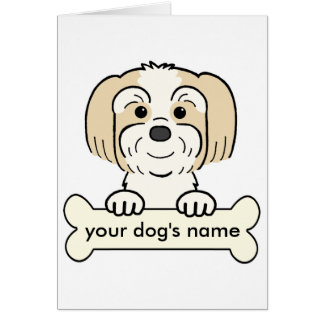 Personalized Lhasa Apso Card