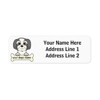 Personalized Lhasa Apso Return Address Label