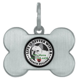 Personalized Life Is Better With A French Bulldog Pet Tags