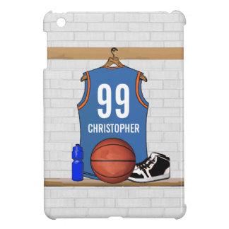 Personalized Light Blue Orange Basketball Jersey Case For The iPad Mini