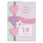 Personalized Lilac Special age Birthday Card