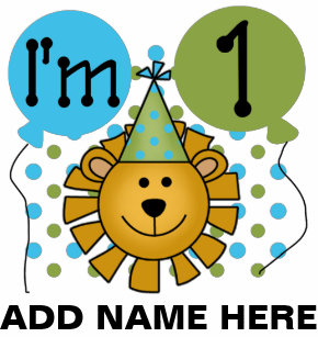 Personalized Lion 1st Birthday T Shirt
