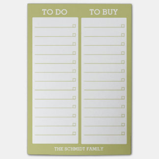 Personalized List - To Do, To Buy - Green Post-it Notes