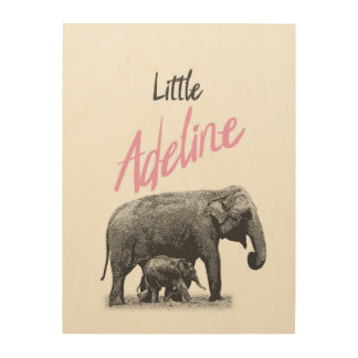 "Personalized ""Little Adeline"" Wood Wall Art"
