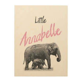 """Personalized """"Little Annabelle"""" Wood Wall Art"""