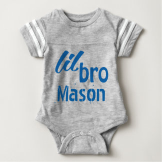 Personalized Little BRO Blue Tshirts