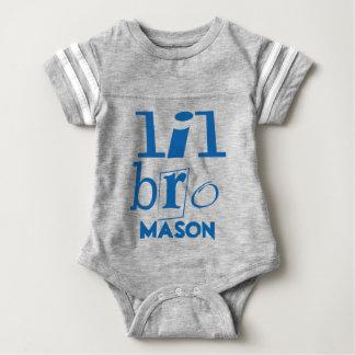 Personalized Little BRO Blue Shirt