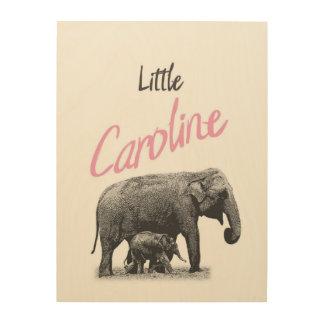 "Personalized ""Little Caroline"" Wood Wall Art"