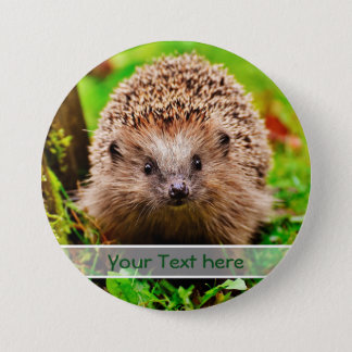 Personalized Little Hedgehog in the Forest 7.5 Cm Round Badge