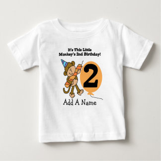 Personalized Little Monkey 2nd Birthday T-shirt