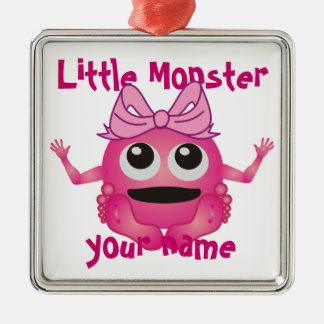 Personalized Little Monster Girl Christmas Ornament