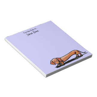 Personalized Little Red Doxie Notepad