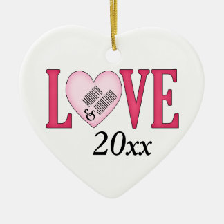 Personalized LOVE 1st Christmas Together Ornament