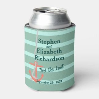 Personalized Love Beachy Anchor Can Cooler