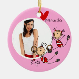 Personalized Love Gymnastics Photo Ornament