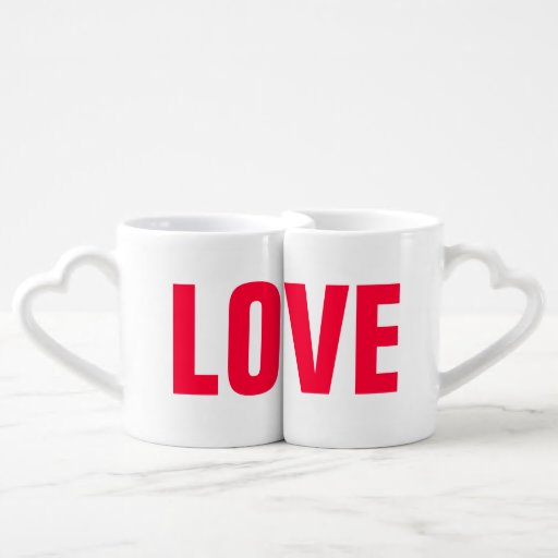 Personalized Love His Hers Couples Mug