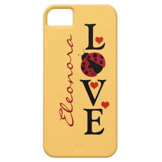 personalized love ladybug iPhone 5 cases