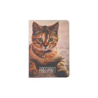 Personalized Lovely Cute Cat Kitten Kitty Passport Holder