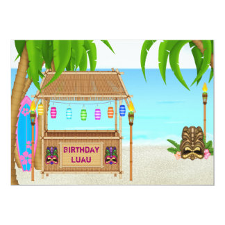 Personalized Luau Birthday Invitation