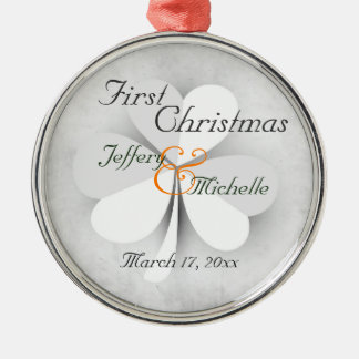 Personalized Lucky Clover Irish First Christmas Christmas Ornament