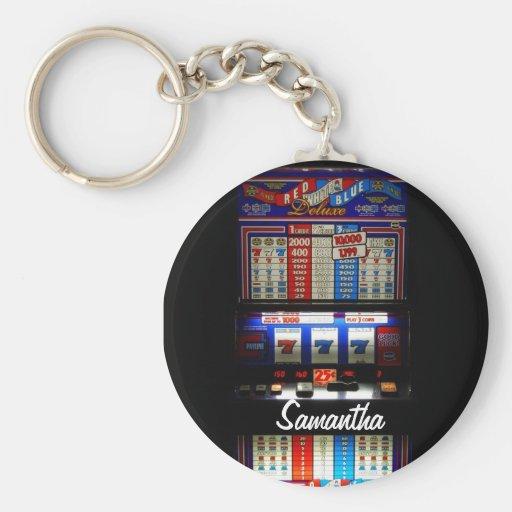Personalized Lucky Slot Machine Keychain Keychains