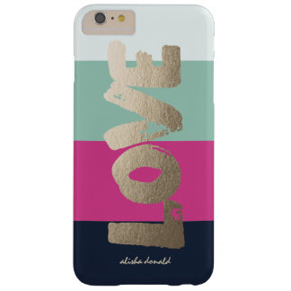 Personalized | Luxe Stripes Barely There iPhone 6 Plus Case