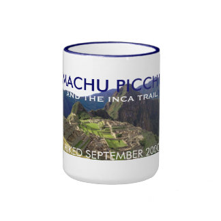 Personalized Machu Picchu, Inca Trail Celebration Ringer Mug