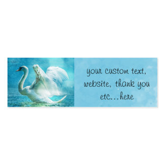 Personalized Magical Swan During a Summer Shower Business Cards