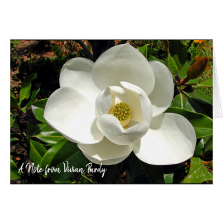 Personalized Magnolia Note cards