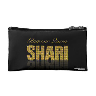 Personalized Makeup Bag for SHARI | Glamour Queen