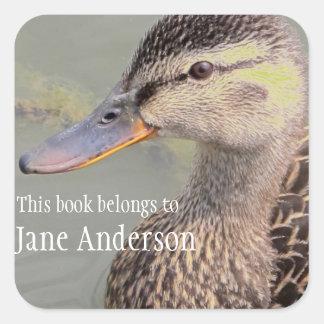 Personalized Mama Duck Bookplate Sticker