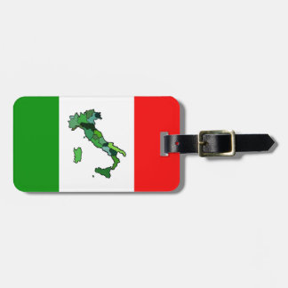 Personalized Map of Italy and Italian Flag. Luggage Tag