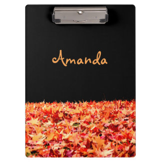 Personalized Maple Leaves Clipboard