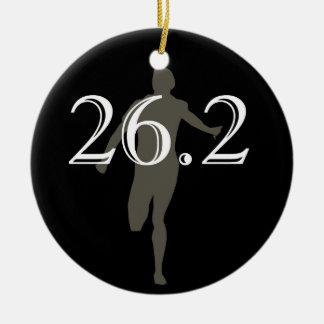 Personalized Marathon Runner 26.2 Keepsake Black Christmas Ornament