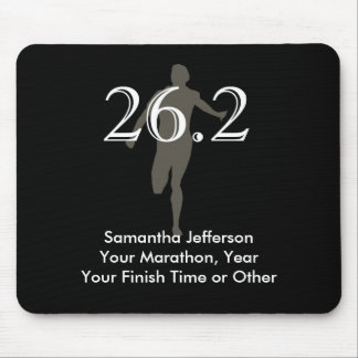 Personalized Marathon Runner 26.2 Keepsake Black Mouse Pad