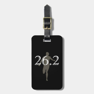 Personalized Marathon Runner 26.2 Keepsake Travel Bag Tag