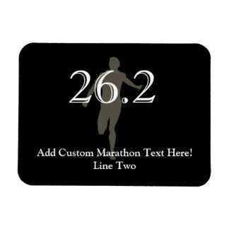 Personalized Marathon Runner 26.2 Keepsake Rectangular Photo Magnet