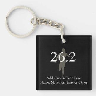 Personalized Marathon Runner 26.2 Keepsake Single-Sided Square Acrylic Key Ring