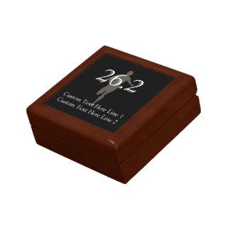 Personalized Marathon Runner 26.2 Keepsake Small Square Gift Box