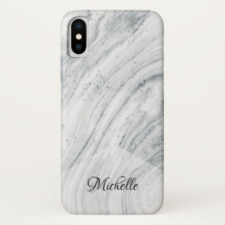 Personalized Marble pattern with Name iPhone X Case