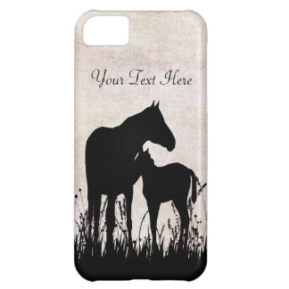 Personalized Mare and Foal Horse iPhone Case