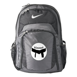 Personalized Martial Arts Black Belt Backpack