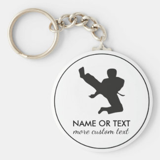 Personalized Martial Arts Karate Custom Name Key Ring