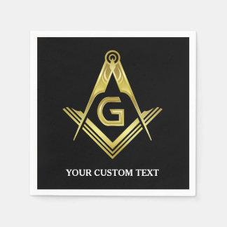 Personalized Masonic Napkins & Party Decorations Disposable Serviette