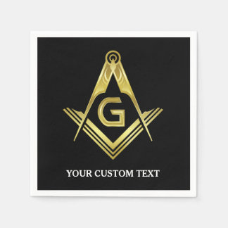 Personalized Masonic Napkins & Party Decorations Paper Napkin