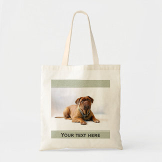 Personalized Mastiff / Dog Green Frame Budget Tote Bag