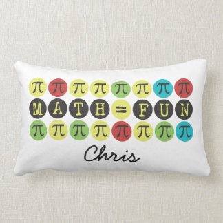 Personalized Math equals Fun Mod Pi  Funny Pi Gift Pillow
